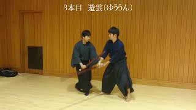 富田流小太刀の基本技、表(前)...
