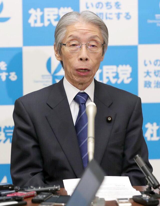 新元号 社民・又市党首「令は『...