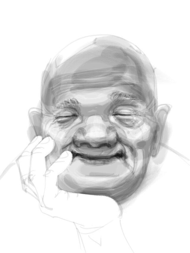井上雄彦さんが描かれた笑顔の絵 - Togetter